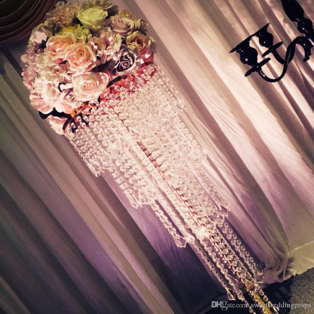 Yeni düğün yol kurşun çiçek aranjmanı Gül çiçekler şamdan raf masa centerpiece çiçek süslemeleri çiçek standı