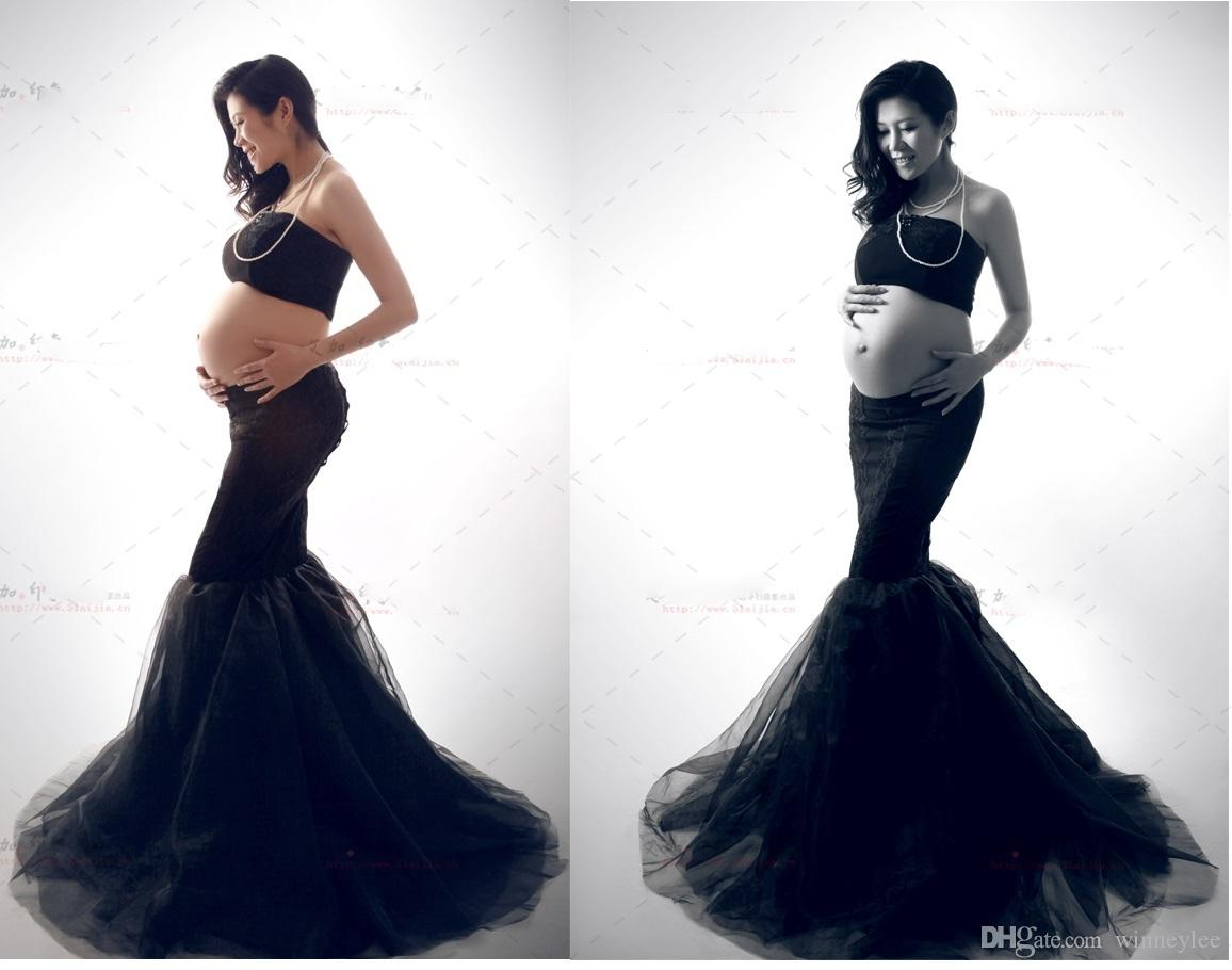 Discount 2016 new maternity photography props clothes for pregnant discount 2016 new maternity photography props clothes for pregnant women dress pregnancy clothing photo portrait the black long culottes set from china ombrellifo Image collections