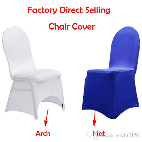 Cheapest Wholesale Universal White Spandex Stretchable Wedding Lycra Banquet Chair Cover For Hotel Party Decoration