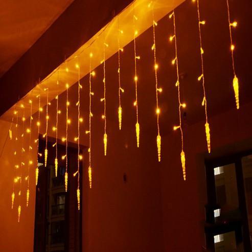 4 m * 0.7 m 100 LED saçağı Perde Işıkları Noel Ev Partisi Düğün Için Led Icicle Dize Peri Işıkları dekorasyon