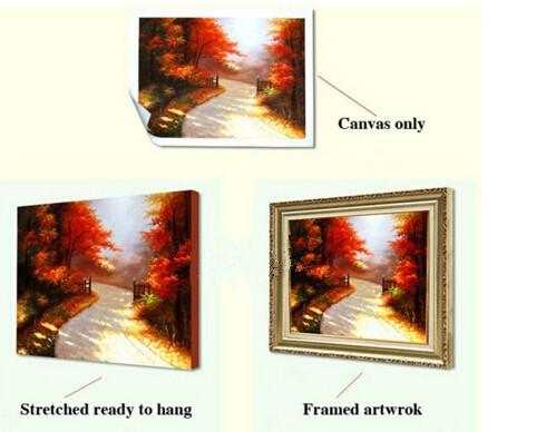 Cuadros Wall Art Autumn Tree Oil Painting On Canvas Paintings By Numbers Pictures Home Decor Living Room Unframed