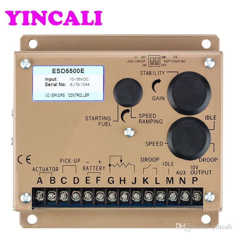 High Quality speed control board control unit ESD5500E generator speed controller suitable 12 or 24 VDC Battery System