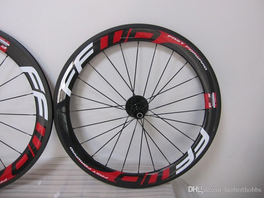 Hot Sell Ffwd 60mm Clincher Tubular Red Bicycle Wheels,Fast Forward 700c Carbon Bike Racing Wheelset