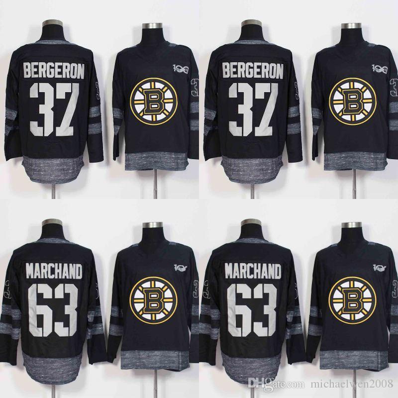 ... discount code for best 37 patrice bergeron 63 brad marchand jersey 2017  centennial classic 100 anniversary ... 3dba39d17
