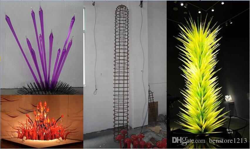 100% рот душевые боросиликатные освещения напольная лампа стоящие лампы интерьера украшения стиль искусства стеклянная скульптура
