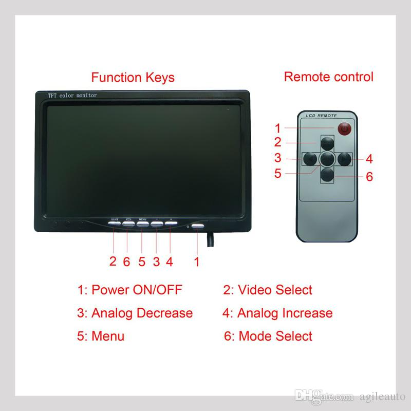 HD Oto 7 inç LCD Park Dikiz Monitör + Su Geçirmez Kablosuz Araba IR Dikiz Yedekleme Reversing Kamera Kiti CMO_51Y