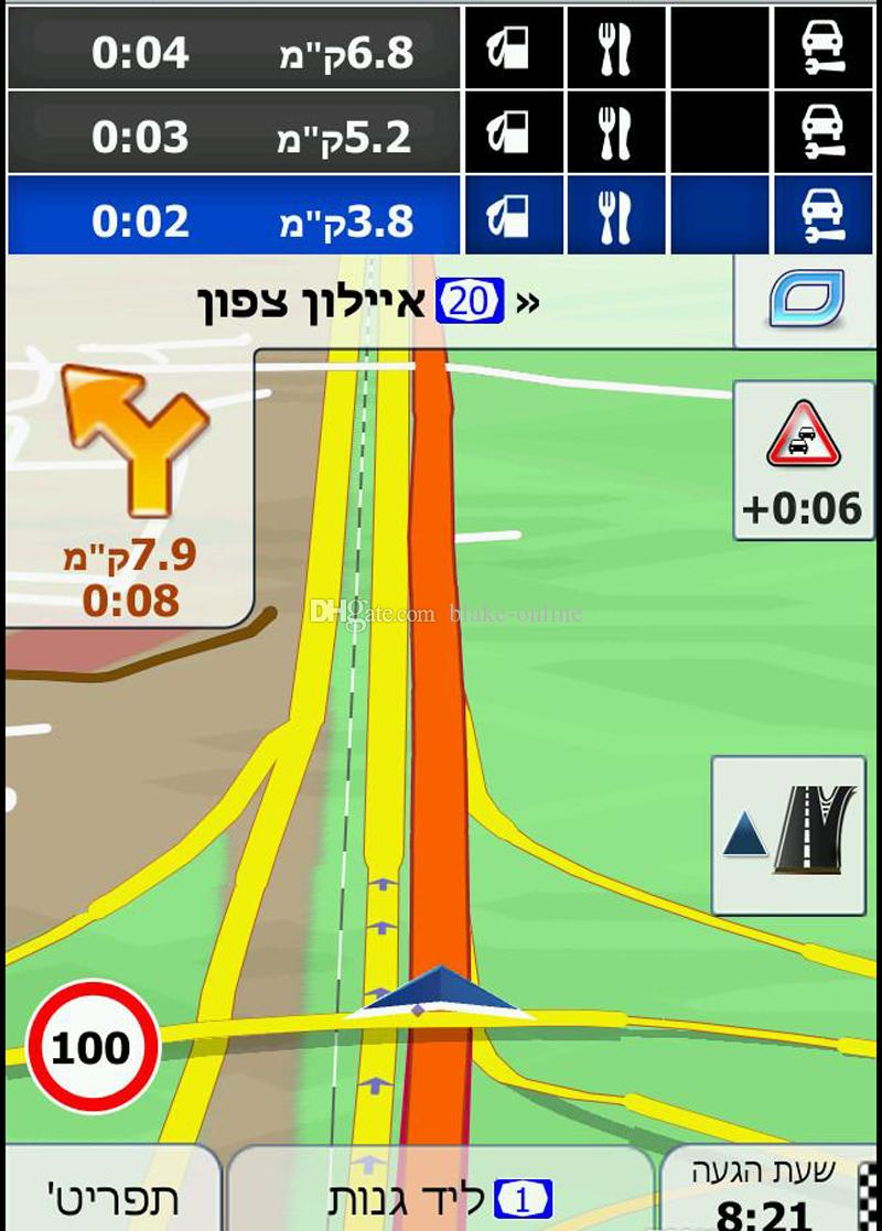 Car Truck GPS Navigation DVD Maps Fast Speed 8GB Micro SD Card IGO Primo Europe America Australia Maps for Smartphone Tablet Android Systems