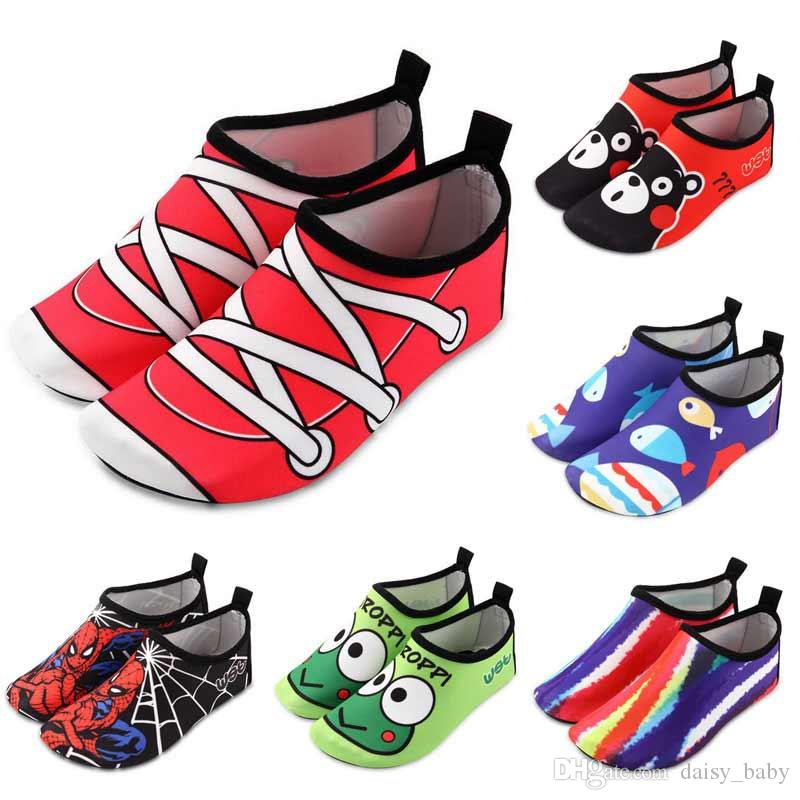 3d0ea7e7ddcb Unisex Swimming Water Shoe Kids Cartoon Print Quick Dry Anti Slip Barefoot  Skin Shoes For Run Dive Surf Swim Beach Sandy Beach Shoes Online Free Shoes  For ...