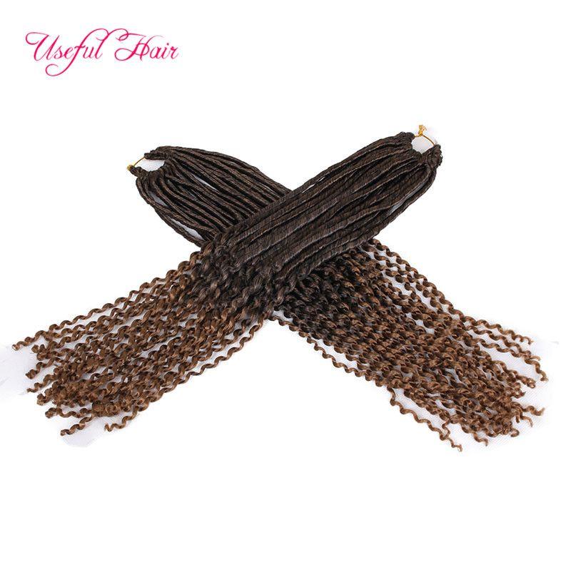 long BRAIDED Havana Mambo Dreadlocks GODDESS CROCHET BRAIDS 18inch faux locs braids hair extensions synthetic braiding hair Janet Collection