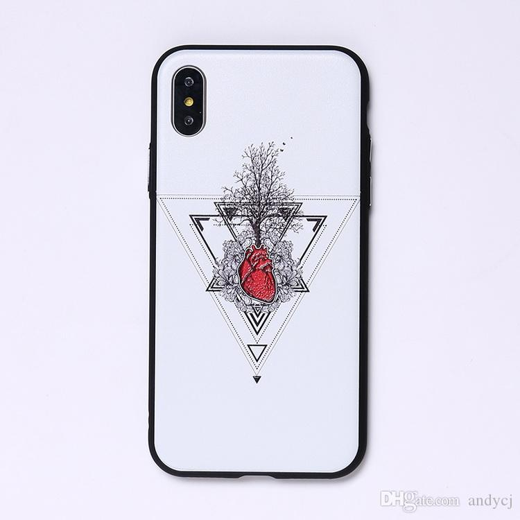 Summer Creative Heart Tree Soft Phone Case For iPhone 7 7Plus 6 6S 6Plus 5 5S 8 8Plus X