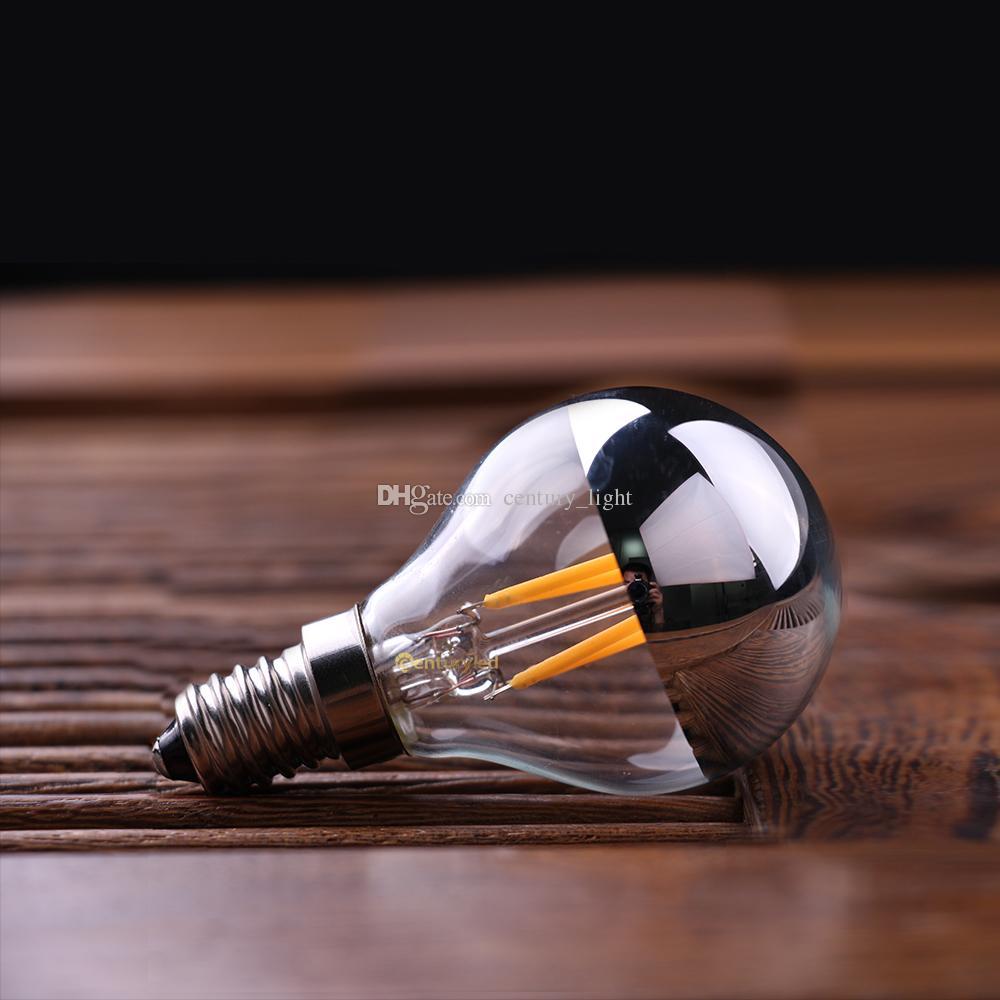 Старинные светодиодные лампы накаливания 4 Вт Корона Щепка Edison G45 стиль E12 E14 база теплый белый ретро декоративные огни Затемняемый