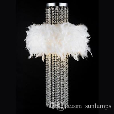 modern dressing room white feather ceiling lamp home decorative bar