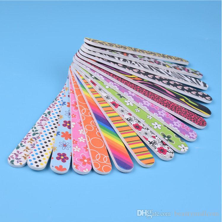 Darmowa wysyłka Kolorowa Mini Salon Pliki do paznokci Bufor i deski Emery