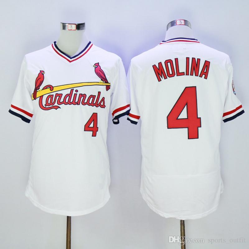 promo code cb6b5 2fc34 st. louis cardinals 4 yadier molina white pullover jersey