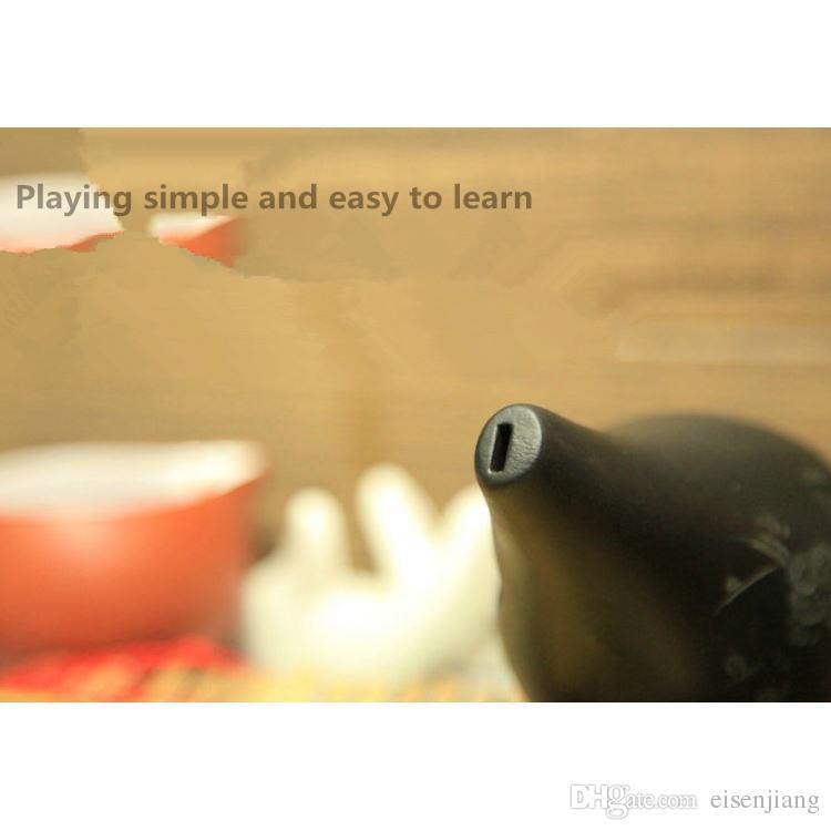 6 trous glace trous trous xun ancien vent - f ton flûte ocarina flûte Alto F apprendre Xun Xun accident paresseux apprentissage instrument de musique sonne cool