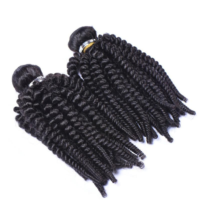 1 Bundles Unprocessed Raw Virgin Peruvian Aunty Funmi Human Hair Weave Bouncy Spiral Romance Loose Curls Remy Hair Extensions Double Wefts