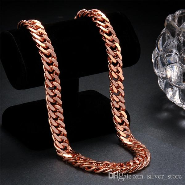 hot sale 24k 18k rose gold yellow gold B14M sideways necklace jewelry GN839 brand new fashion gemstone necklace christmas gift