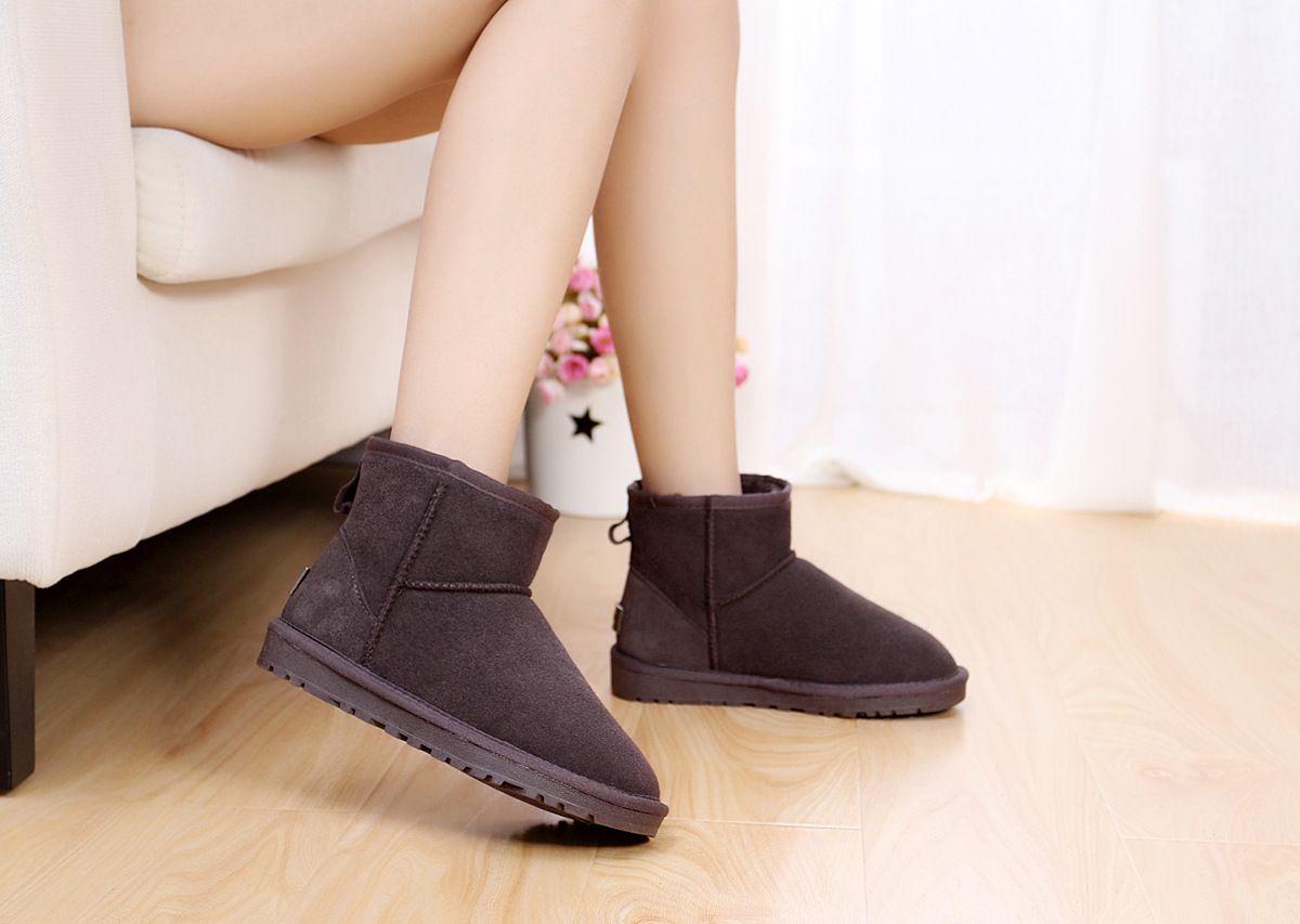 Hohe Qualität WGG Frauen klassische hohe Stiefel Damen Stiefel Boot Schnee Stiefel Winter Boot Leder Boot Zertifikat Staubbeutel Drop Shipping