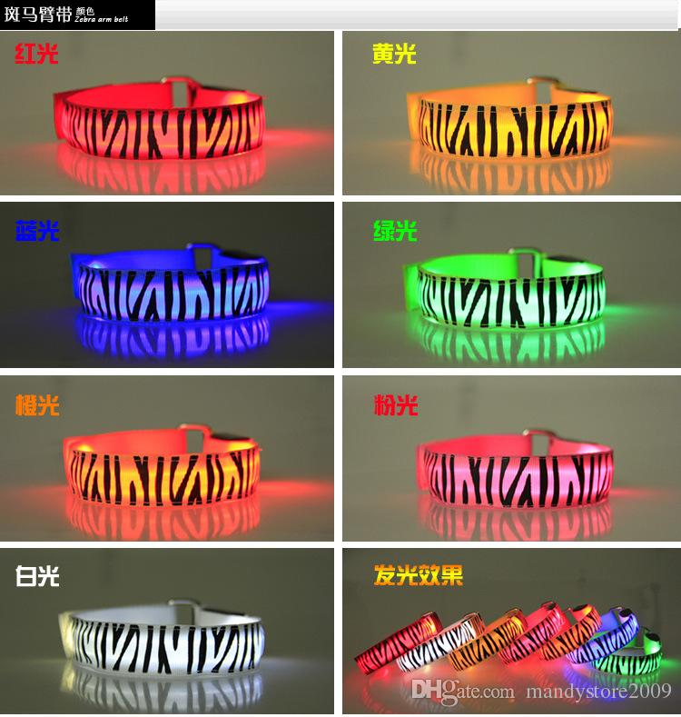 Hot Led Arm band Safety Reflective Belt strap Snap Wrap Wrist Ankle Armband for Outdoor Sports YC2104