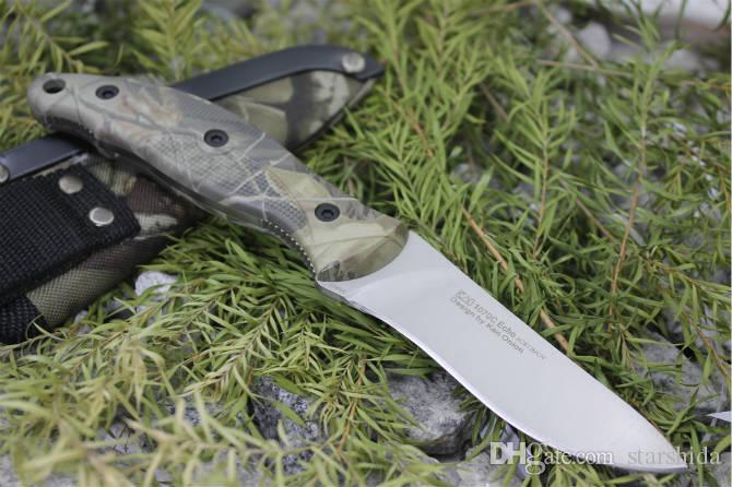 Kershaw 1070C Echo Vorstellung Tactical Fixed Blade Knife 8Cr13MOV Camo Handle Titanium Camping Hunting Survival Pocket Knife EDC Tools
