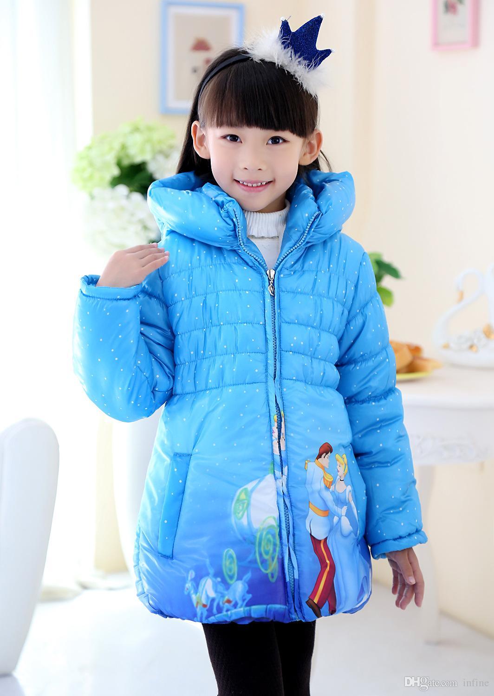 Winter Jacket For Girls Parka Snow Queen Clothes Elsa Jacket Girls ...