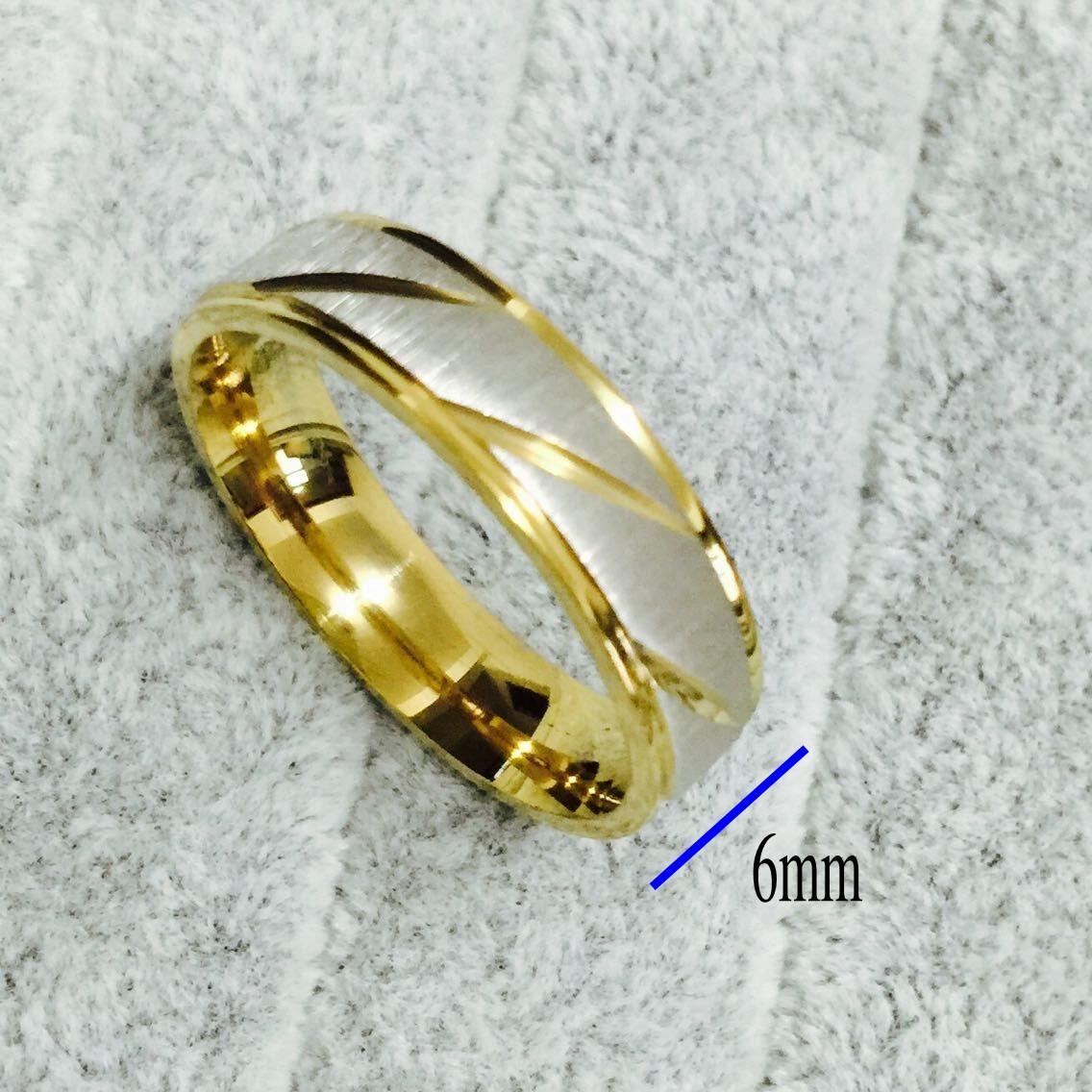 18K 골드 실버 도금 스테인레스 스틸 한국어 남자 반지 남자 여자 결혼 기념일 연인을위한 반지, 그와 그녀의 약속 2 톤
