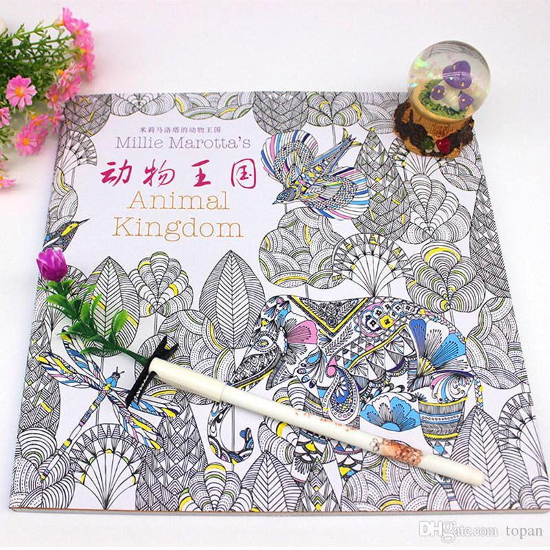 2016 Prettybaby Secret Garden Coloring Book Painting Drawing