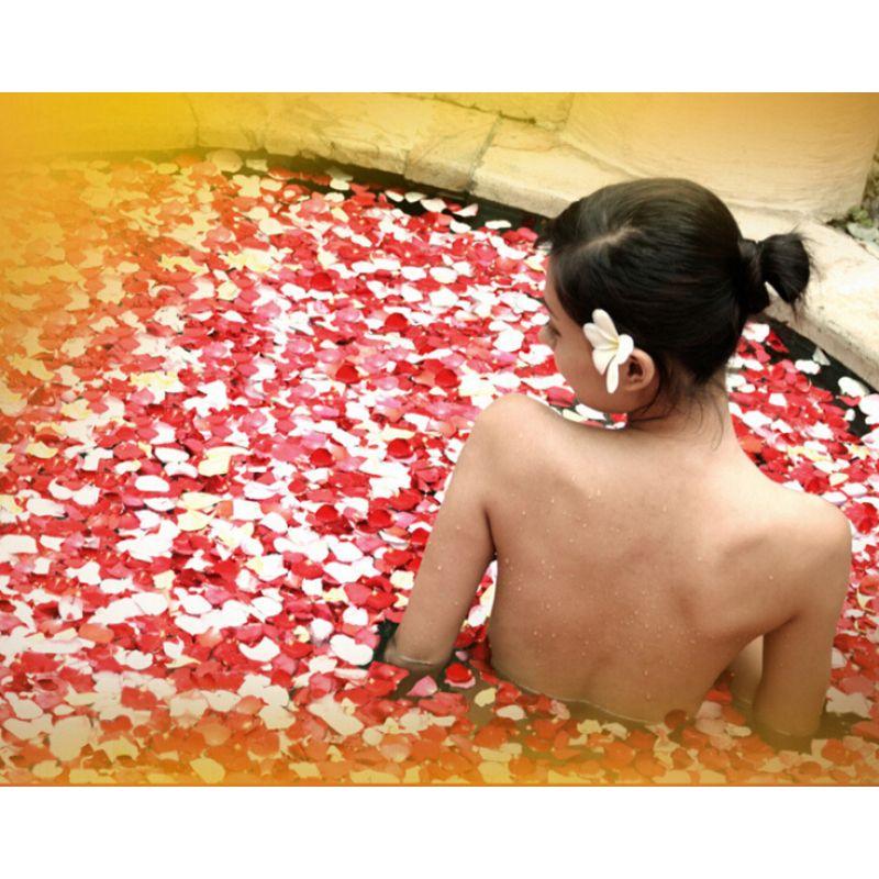 Petal bath Bathing Tool accessories 100g/Pack 100% Natrual Rose Petal Bathroom Relieve Fatigue Skin Smooth dried rose petals Z35