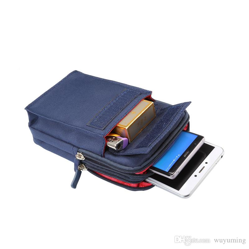 عالمي 6.4 بوصة الرياضة المحفظة حقيبة الهاتف المحمول لفون / قوة البنك حقيبة الكتف الرياضة في الهواء الطلق لقضية جيش / غطاء جيش Xiaomi