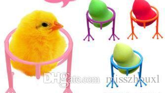 Mix renkler Çevre Dostu Rosin Makyaj Araçları Makyaj Güzellik Stencil Yumurta Tavuk Ayak Puf Sünger Ekran Standı Kurutma Tutucu Raf