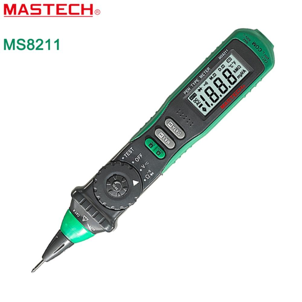Mastech Ms8211 Pen Type Auto Ranging Digital Multimeter With Battery Mos Transistors 8211 Operation Non Contact Ac Voltage Detector Lcd Display 18 No Tracking Aliexpress Aliexpresscom