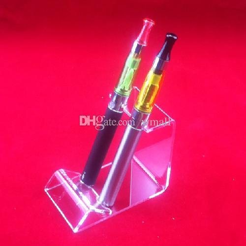 Acrylic e cig display stands clear showcase shelf holder for ecig kit vaporizer pen electronic cigarette ego box mods battery vape tank