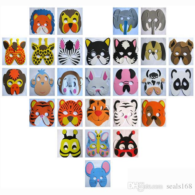 Halloween Party Animal Mask EVA Foam Cartoon Costume Mask Children Adult Party Festive Dress Up Mask Christmas Gifts HH7-20