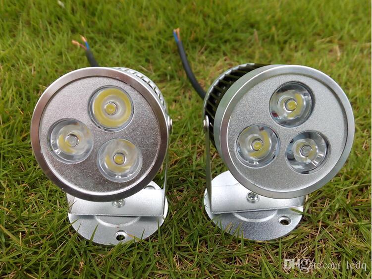 3W Modern LED Lâmpada Arandela AC 85 ~ 265V DC 12V Indoor Stair Holofotes Teto Down Lâmpada Prata Preto 3X1W Branco quente Vermelho Azul Verde Branco