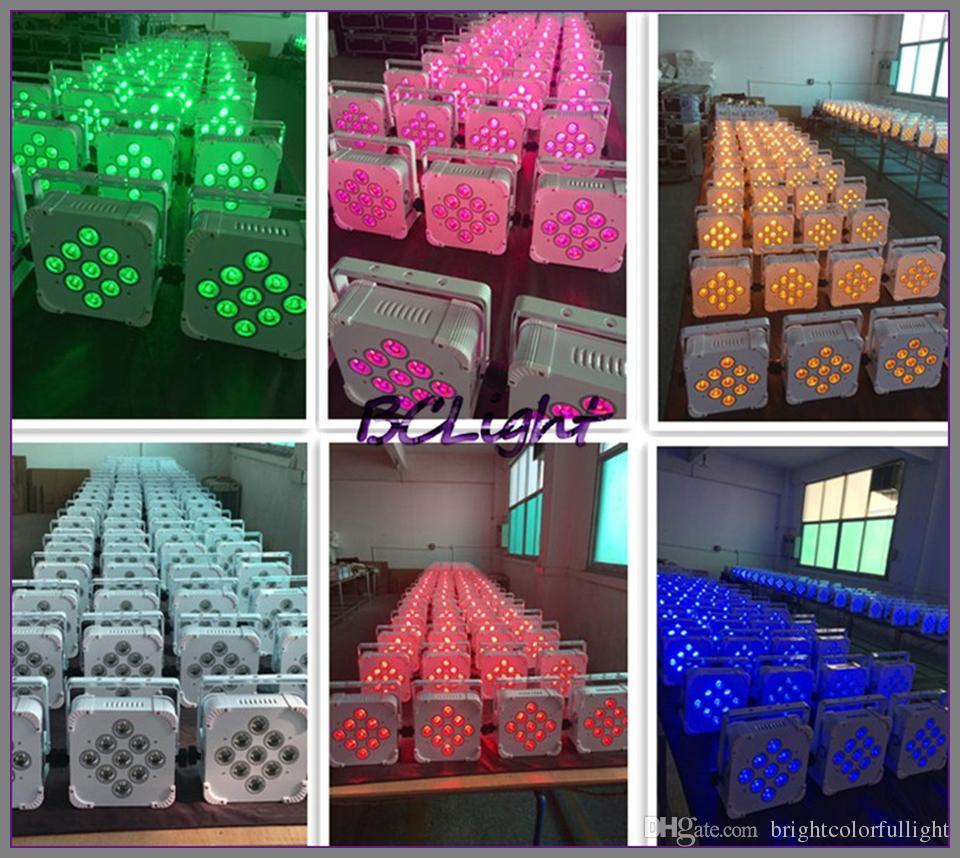1 fly case High brightness Slim Par *18W RGBWAUV LED Flat Par Light battery wireless DMX led par light