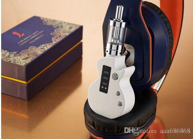 electronic cigarette sets guitar steam smoke 50W vape pen kits 1200mah battery ecig atomizer instock HotSale and High Quality