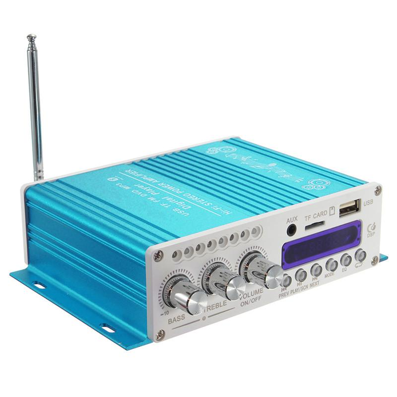 Freeshipping 2-канальный 200 Вт Мощность Bluetooth HiFi стерео усилитель усилитель бас усилитель для автомобиля Главная MP3