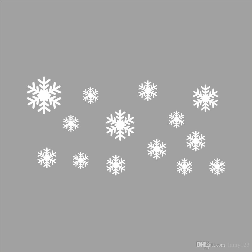 Wholesale Snowflake Wall Sticker Easily Apply Removable & Waterproof PVC No Pollution Kids Baby Room Decoration Wall Decor Wallpaper 30x60cm