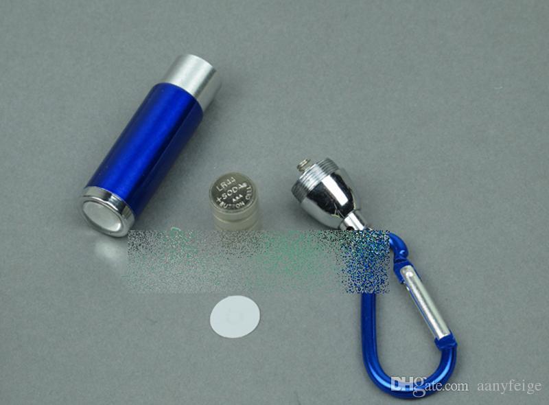 Mini EDC LED Flashlight Keychain - Portable Outdoor Camping Light Flashlight Torch Keyrings With Hook