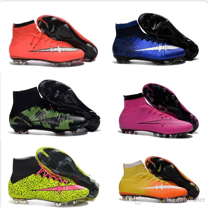 f101135b5 Newairl Kids Soccer Shoes for Boys Mercurial Superfly Fg Cr7 Sock ...