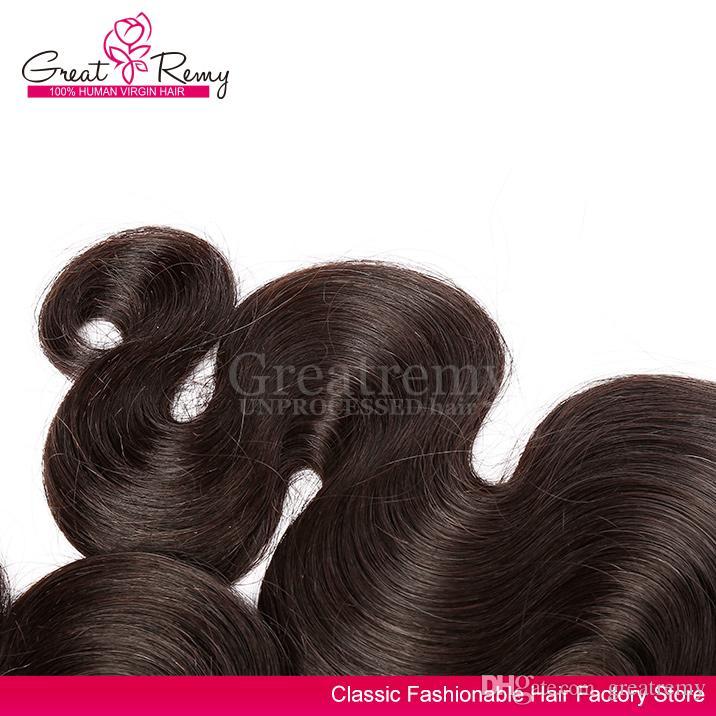 Greakry® Hurtownie 3 sztuk / partia Natural Color Indian Włosy Wątek Indyjskie Human Włosy Ciało Wave Nieprzetworzone Tanie Włosy Wiązki Wiązki