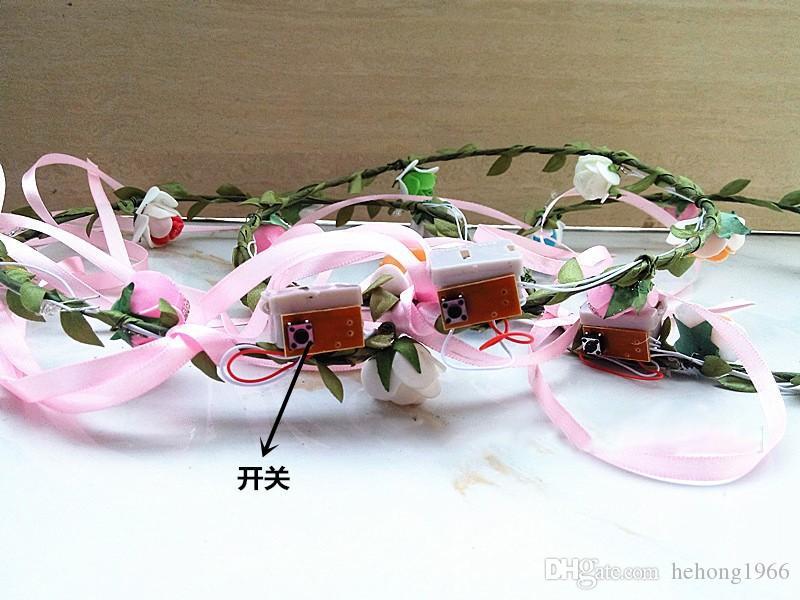 Novità Flashing Light Up Flower Fascia multifunzione Birthday Party Masquerade Testa decorativa LED lampeggiante 2 5yr J R