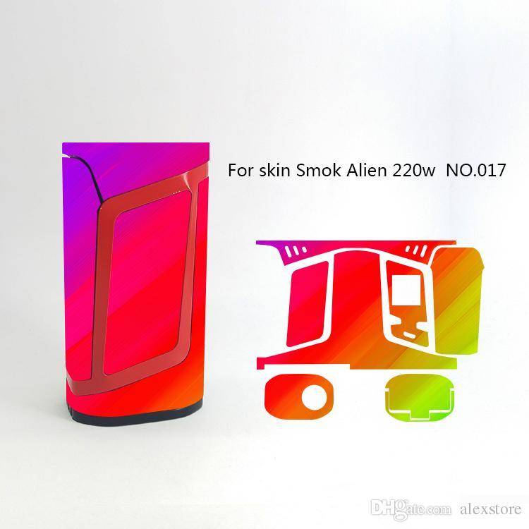 Alien 220W Skin Wraps Sticker Cases Cover for Alien 220 Watt TC Box Mod Vape Protective Film Stickers With 18 Pattern DHL