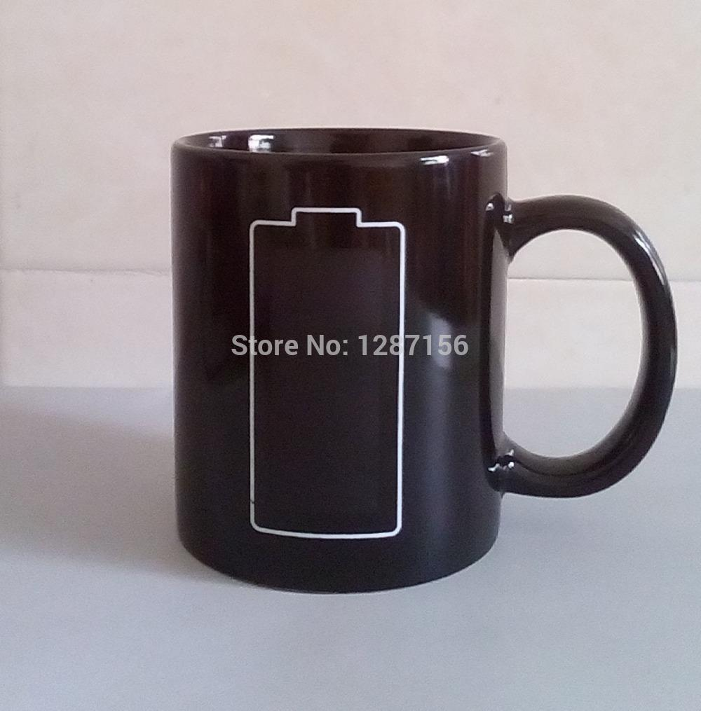 Handgrip Blank Mug Capacity Heat Coffee With Quality Sensitive Porcelain Shipping Free Wholesale 300ml High Cup Sublimation DEH29IW