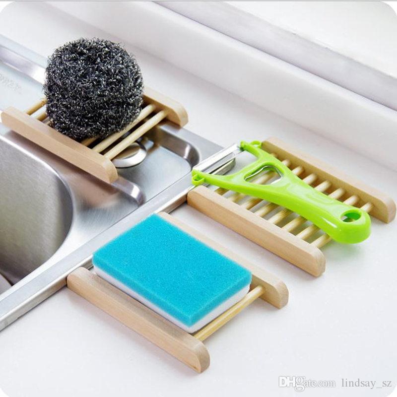 천연 대나무 나무 비누 접시 나무 비누 트레이 홀더 저장소 비누 랙 접시 상자 컨테이너 목욕 샤워 욕실