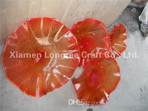 Top Design выдувного стекла руки стены Тарелки Главная Декор Стиль Стеклянная настенная плитка из Китая