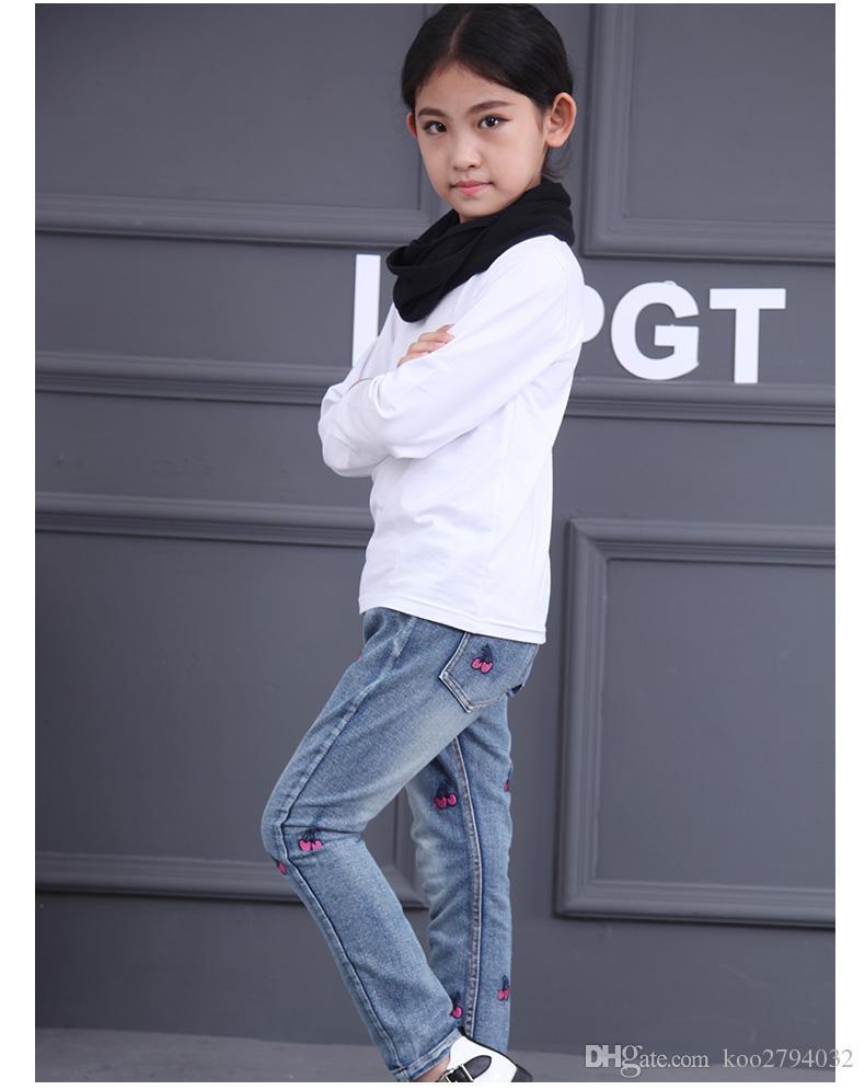 2016 아기 소녀 스트라이프 의류 세트 가을 봄 브랜드 아동 스포츠 정장 까마귀 바지 만화 고양이 아이 Twinsets 아동복