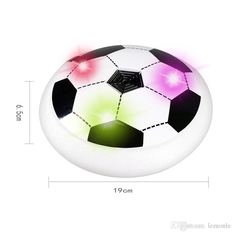 Multicolore LED Air Soccer Hover Football Disque Disque Enfants Enfants Garçons Jeu Jouets