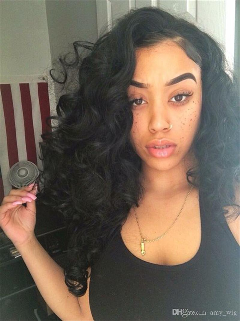 Deep Wave Human Hair Wigs 10-24 Inch Brazilian Hair Full Lace Wigs For Black Women 150% Density Human Hair Lace Front Wig