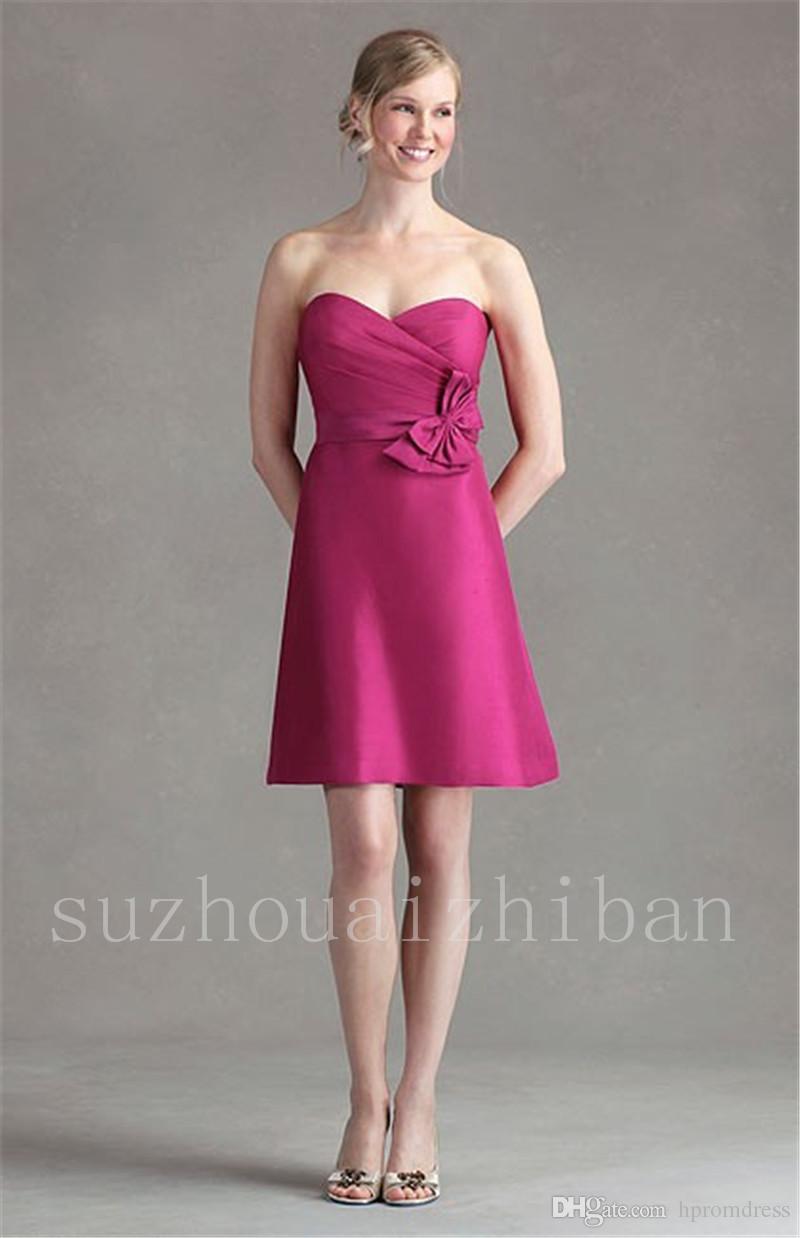Increíble Vestido De La Dama De Honor Con El Arco Motivo - Ideas de ...
